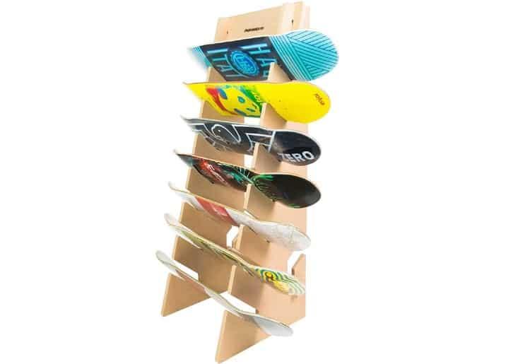Skateboard Snowboard Longboard Floor Display Rack